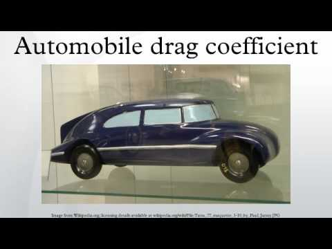 Automobile drag coefficient