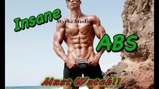 Asian Korean Bodybuilder Insane ABS Eugene with Styrke Studio