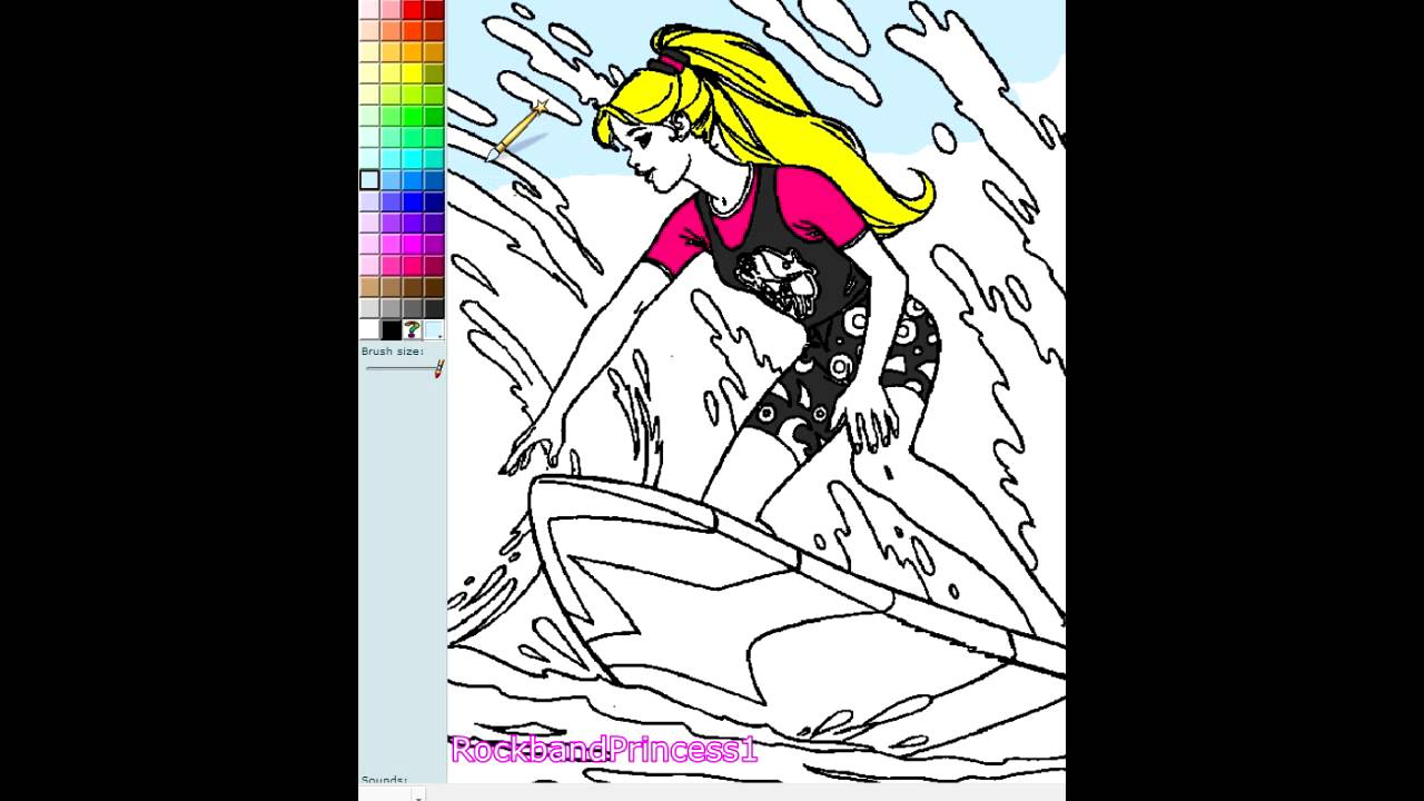 Christmas colouring pages online games - Barbie Games Barbie Coloring Pages Online