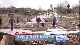 Торнадо, разрушительные бури развертки через Средний Запад KASIRGA