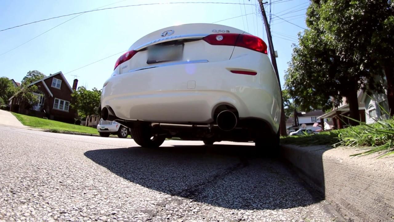 Super Cheap Rev9 Ebay Exhaust on 2015 Infiniti Q50S 3 7L