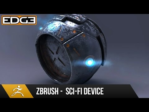 Zbrush 4R7 Tutorial - Hard Surface Techniques - Sci-Fi Devic