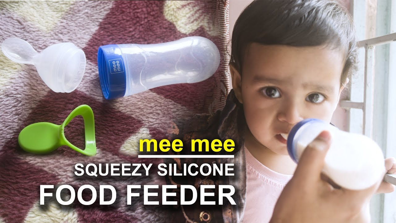 Mee Mee Squeeze Silicone Food Feeder Best Baby Feeding Spoon Review