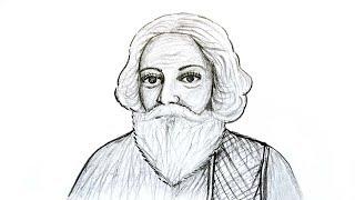 Rabindranath Tagor Face Art,,,রং তুলিতে রবিন্দ্রনাথ ঠাকুর
