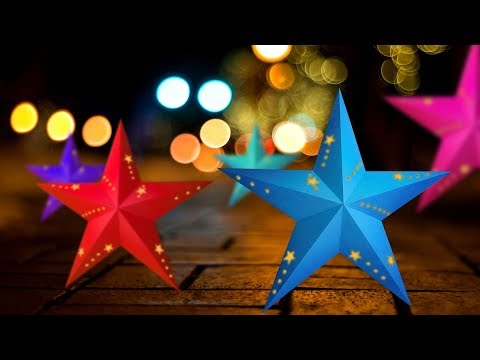 How to make 3D paper star lights