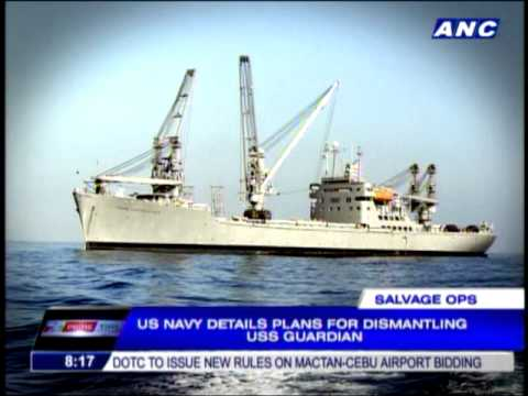 US Navy details how it will dismantle USS Guardian
