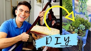 DIY UPCYCLED CHAIR CHALLENGE with DAINTY DIARIES   HOW TO MAKE A CHAIR PLANTER