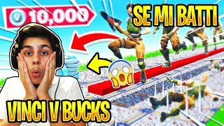 🔴VINCI IL NUOVO PACK SE MI BATTI NELLE DEATHRUN!! Zerbiian Vs Fan Fortnite Battle Royale ITA
