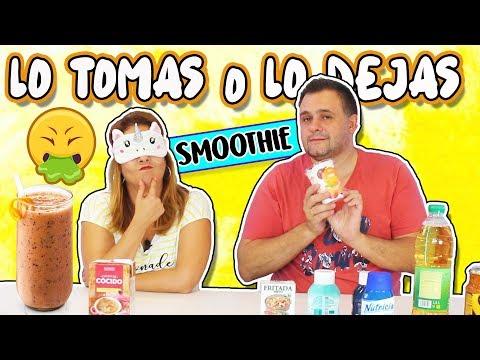 Lo TOMAS o Lo DEJAS Smoothie !! Take it or Leave it Smoothie ! Marta vs David | TOMA YA