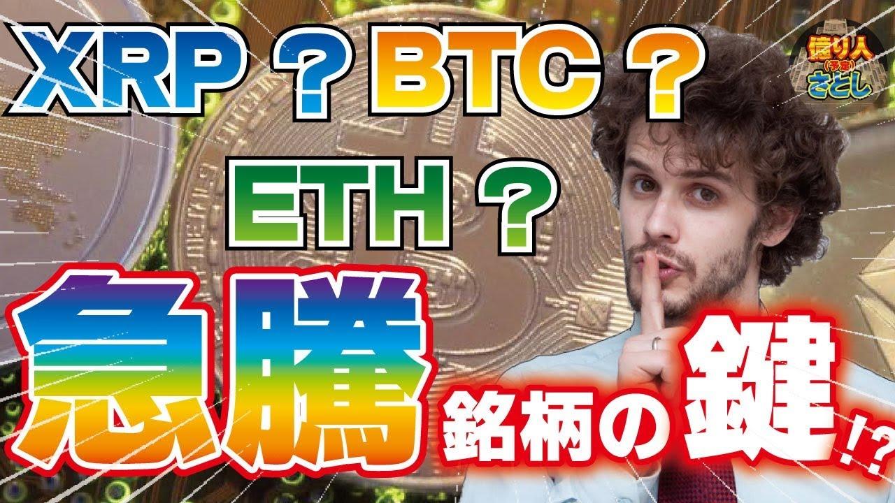 【仮想通貨】リップル?イーサリアム?ビットコイン?急騰銘柄の鍵?【投資家プロジェクト億り人さとし】