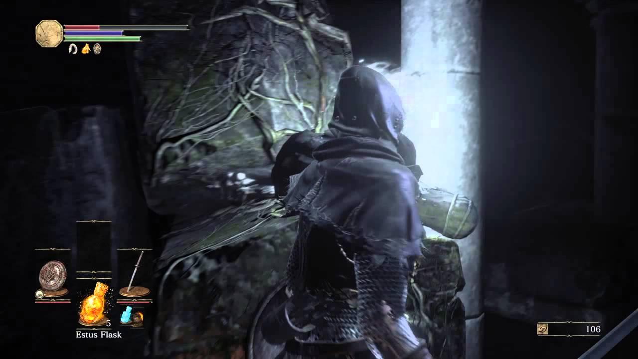 Dark Souls Iii Firelink Shrine Tower Jumping Down To The Loot Youtube