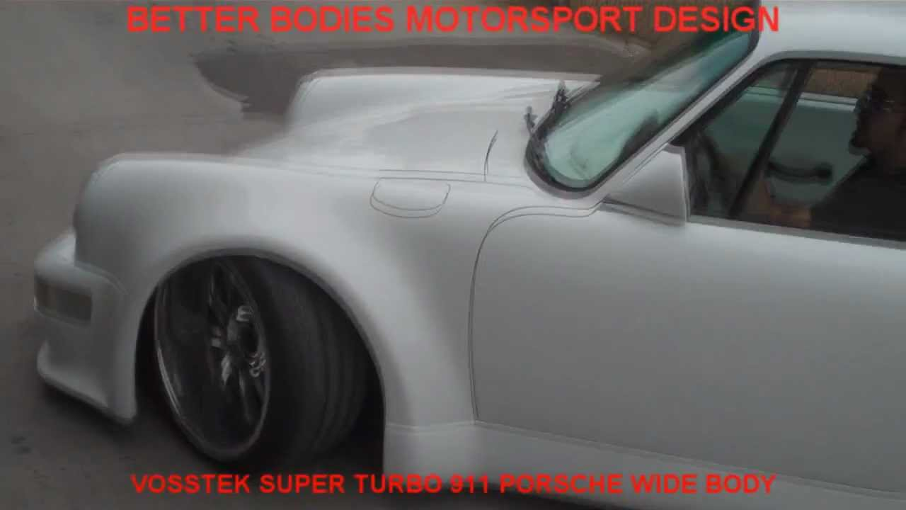 Porsche 930 super wide body conversion kit by Vosstek RWB (Run Wild Baby)  installation BBMD