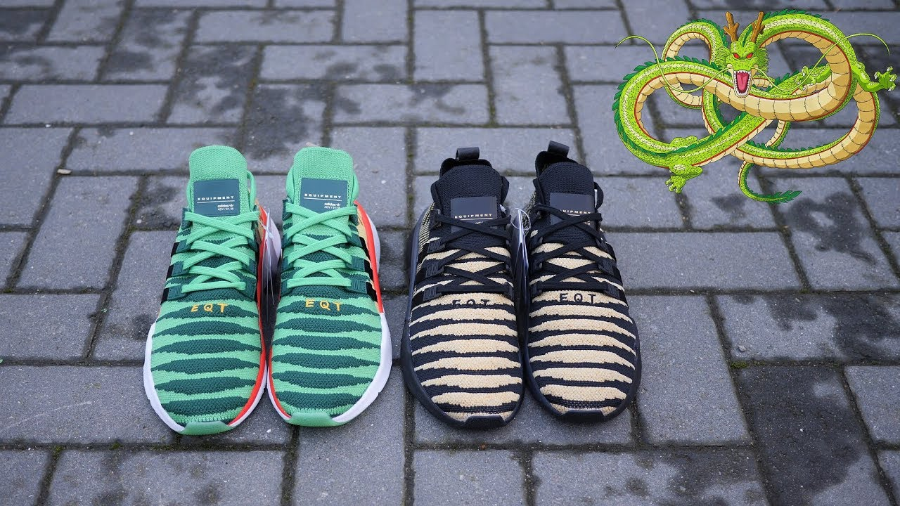 purchase cheap aeec1 160b4 Adidas x Dragon Ball Z EQT Support Mid ADV Primeknit Shenron Quick Look  (Green  Black)