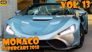 SUPERCARS IN MONACO 2018 - VOL. 13 (Apollo IE, Zagato, Chiron, Zenvo, etc ... ) [2018 4K]