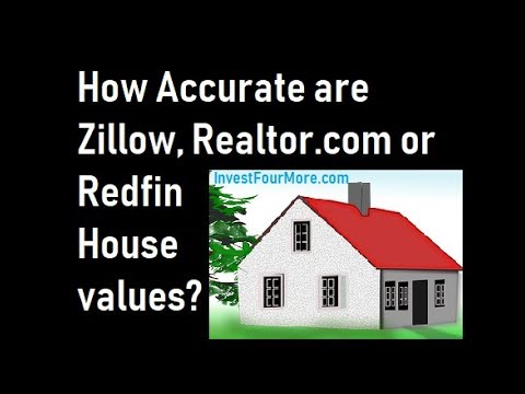 How Accurate is the Zillow Zestimate, Redfin or Realtor com Property Values?