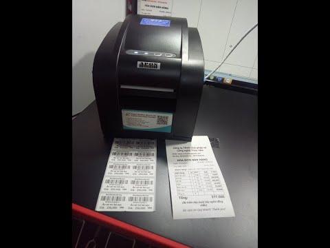 Máy in 2 chức năng: In tem mã vạch và In hóa đơn bán hàng - Máy in tem APOS 350BN
