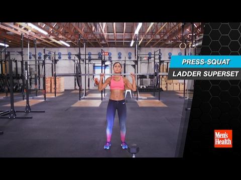 Press-Squat Ladder Superset