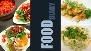 FOOD DIARY | LOWCARB | 4 TAGE ABENDESSEN | Filizzz