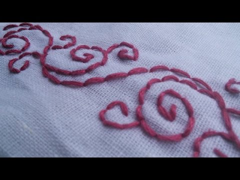 Learn Hand Embroidery Patterns Backstitch HandiWorks 40 YouTube Impressive Hand Stitch Embroidery Patterns
