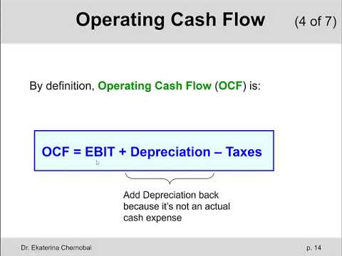 (4 Of 14) Ch.10 - Operating Cash Flow (OCF): Explanation & Example