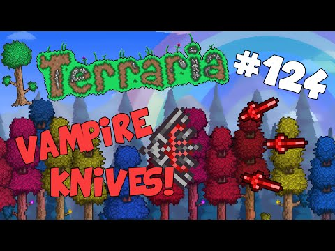Let's Play Terraria (1.2) IoS/Android - Vapmire Knives! - 124
