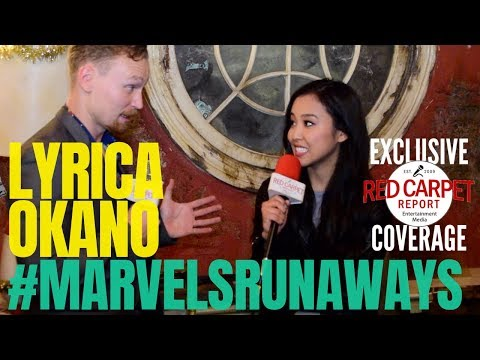 Lyrica Okano interviewed: #MarvelsRunaways cast/crew for Season 2 #setvisit #Hulu