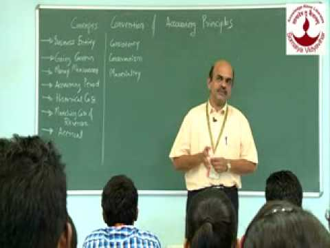 Prof  Atul Thatte Concepts, Convention & Accounting Principles