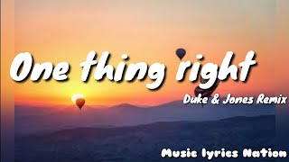 Marshmello × Kane Brown - One Thing Right (Duke & Jones Remix) {Remix} || Music Lyrics Nation