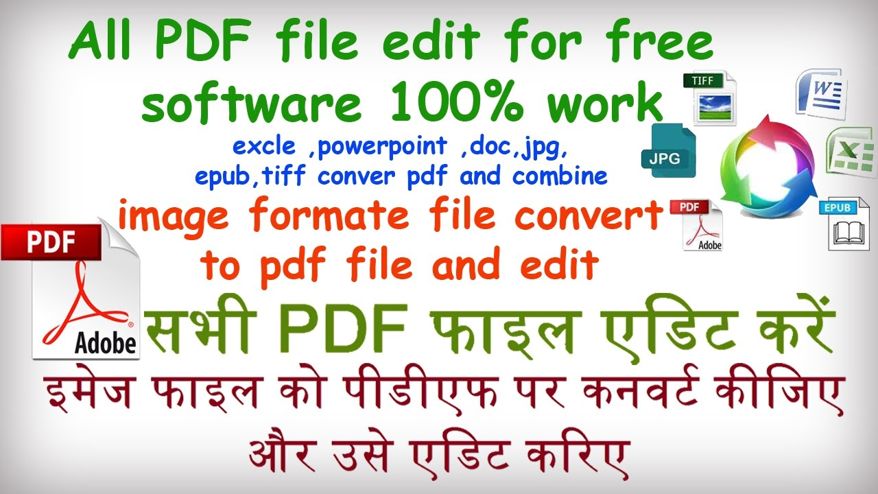 "How To Edit A Pdf Document ""� Image To Pdt Converter Software €� (convert Pdf  ,create, Edit, Ocr)"
