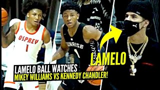 LaMelo Ball Watches Mikey Williams vs 5 ⭐ PG Kennedy Chandler GO HEAD TO HEAD!!