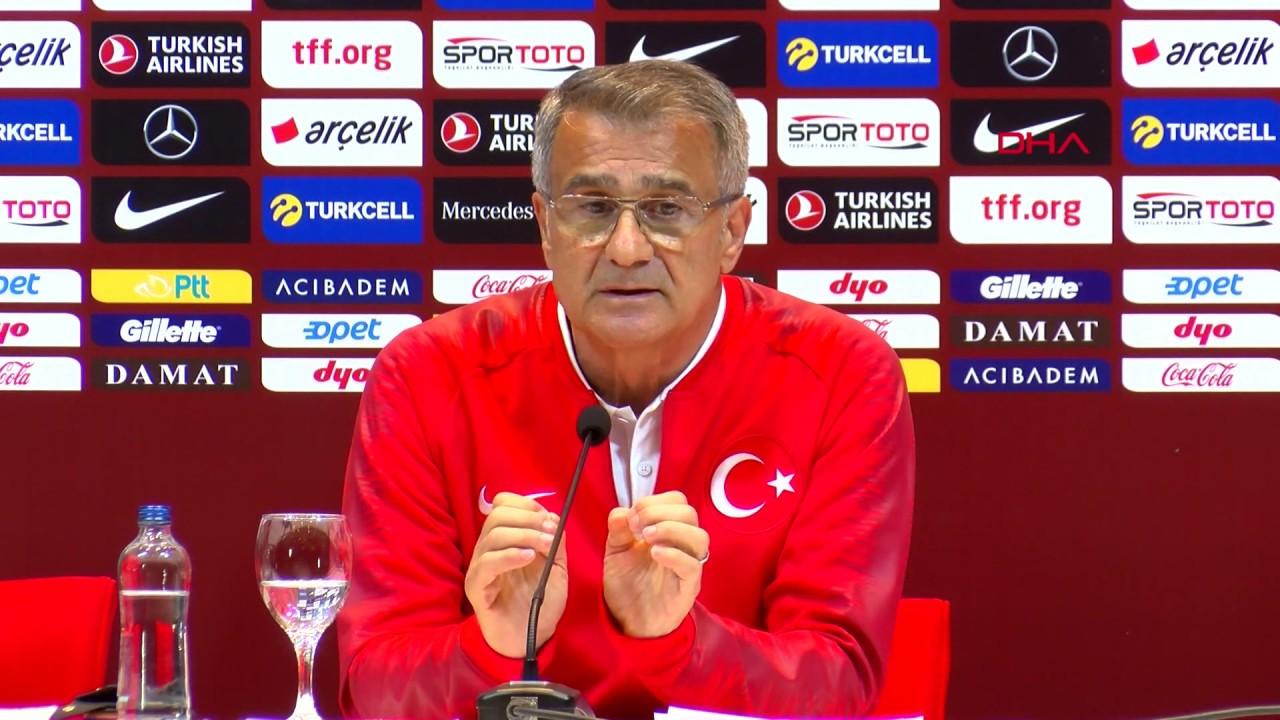 A Milli Futbol Takımı Teknik Direktörü Şenol Güneş'ten Arnavutluk maçı öncesi açıklama