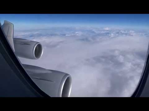 Lufthansa Boeing 747-8 - Los Angeles to Frankfurt, fantastic views of Palm Springs and the Desert