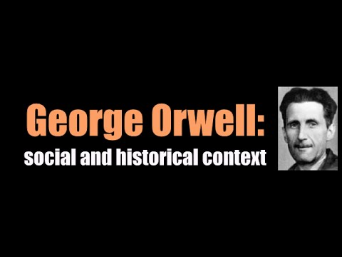 the historical background of george orwells Also explains the historical and literary context that influenced 1984  context  born eric blair in india in 1903, george orwell was educated as a scholarship.