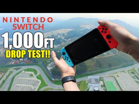 Nintendo Switch Drop Test from 1000 Feet!!   Durability REVIEW