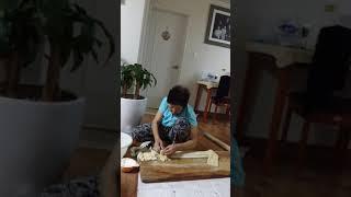 손칼국수 콩가루반죽