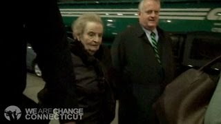 WeAreChangeCT Confronts Madeleine Albright