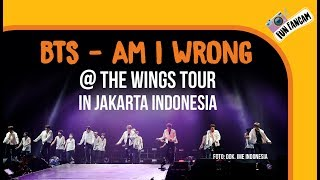 BTS - Am I Wrong @ The Wings Tour In Jakarta, Indonesia