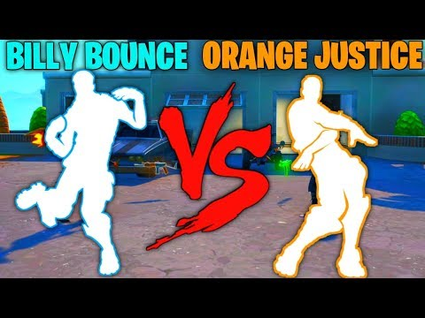 FORTNITE BILLY BOUNCE EMOTE VS ORANGE JUSTICE EMOTE!!!