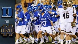 Duke vs. Notre Dame ACC Men s Lacrosse Championship Highlights (2016)