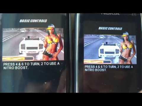 Asphalt 3: Nokia N85 vs Nokia E75