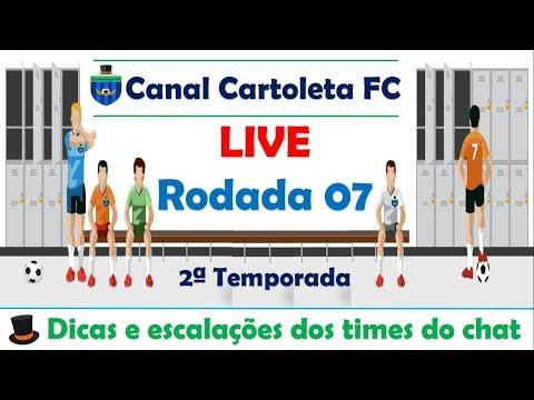#LIVE CANAL CARTOLETA FC | RODADA 07| CARTOLA FC 2018 DICAS E ESCALAÇÃO DO TIME DO CHAT