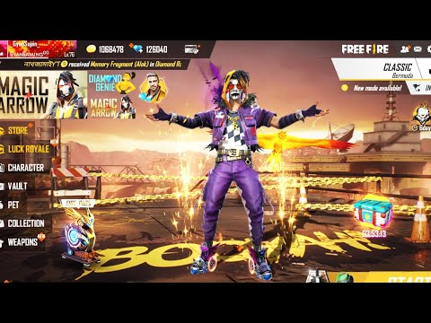 Garena Free Fire Live - Dj Alok New Joker Squad Gameplay