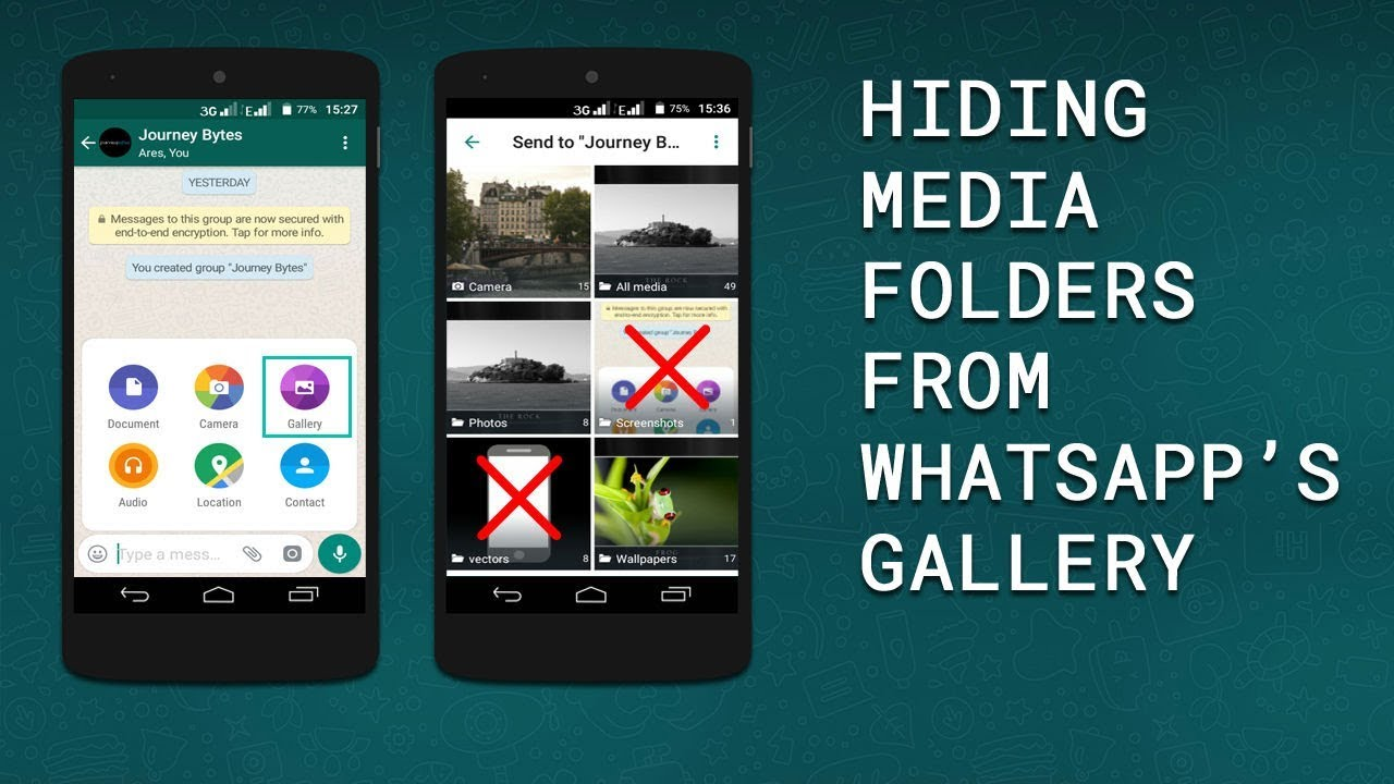 Image result for whatsapp videos and photos hide
