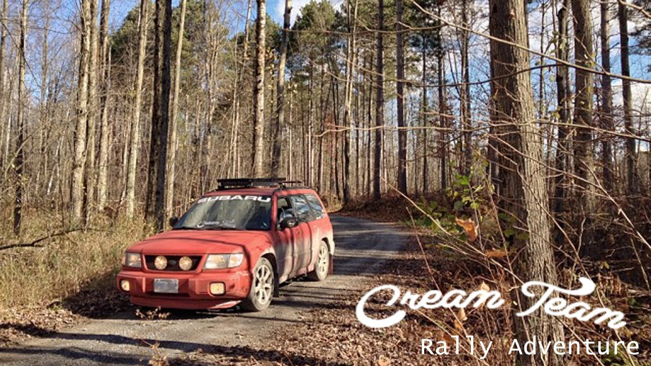 Subaru Forester Driving Hard In Backroads Rally Youtube