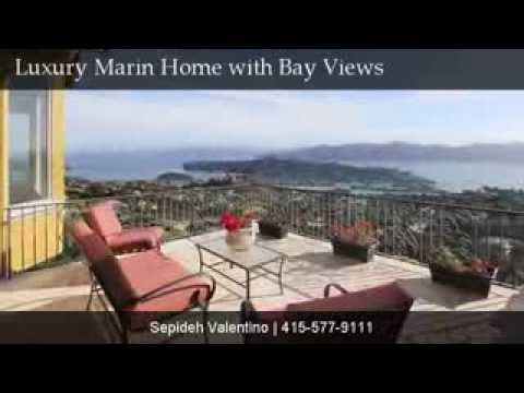 Luxury Marin Tiburon Home San Francisco Skyline Golden Gate Bay Bridge Belvedere Sausalito Views