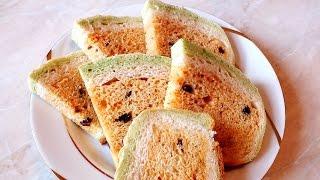 Домашний пшеничный  хлеб с изюмом оригинальный вкусный рецепт