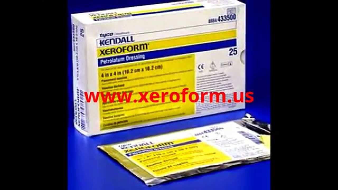 xeroform kendall petrolatum dressing gauze - YouTube