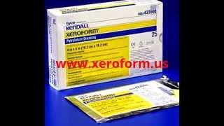 xeroform kendall petrolatum dressing gauze