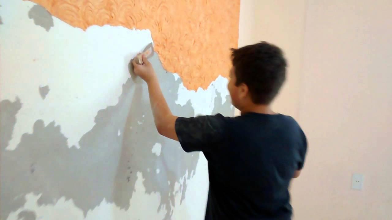 Como tirar textura da parede sem striptizi  YouTube