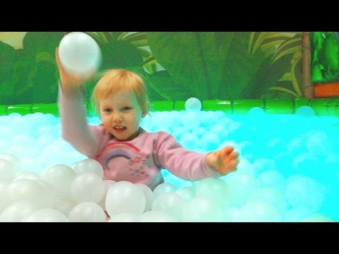 Indoor Playground Family Fun for Kids Part 6 with Spelling | Ball Pits, Slides, Tunnels, Rides